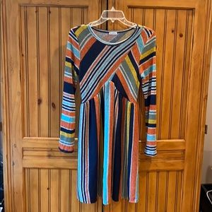Tops - NWOT tunic top or dress multi strip and colors